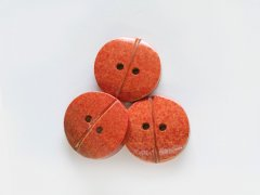 Knopf - Bambus - 20mm - orange