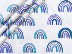 Popeline - Regenbogen -  Stenzo - blau - türkis  - weiss