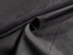 Veloursleder - Imitat - scuba - schwarz