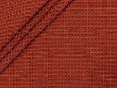 Baumwoll Waffelpiqué - terracotta