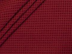Baumwoll Waffelpiqué - burgund