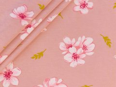 Modal Tencel Jersey - Blüten - rosa - pink