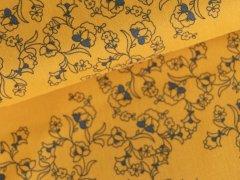Baumwolle - Klaranähta - Floral - Blätter - sonnengelb