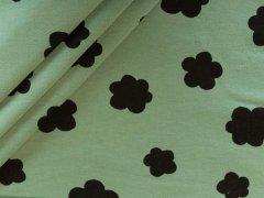 Bio Soft Sweat  mit schwarzen Wolken auf grün