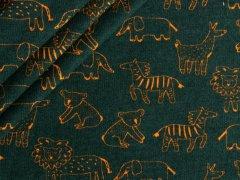 Bio Sweat - Tiere - Löwen - Elefanten - dunkelgrün