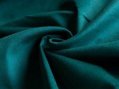 Feincord - Stretch - einfarbig - petrol-grün
