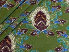Jersey Single - Ornamente - Stenzo  - grün - braun - schwarz - blau