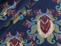 Jersey Single - Ornamente - Stenzo  - blau - braun - grün