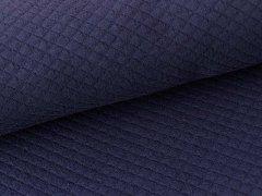 Baumwollstepp - navyblau