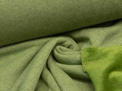 Alpenfleece - uni - grün meliert