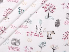 Sweat - Hasen - Bäume - Vögel - Hilco - weiß