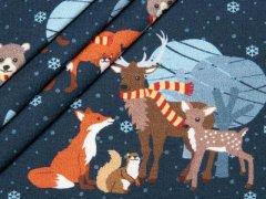 Sweat - Bäume - Tannen - Füchse - Eichhörnchen - Rehe - Bären - Schnee - hilco - angeraut - dunkelblau