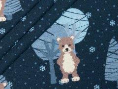 Sweat - Bäume - Tannen - Bären - Schnee - hilco - angeraut - dunkelblau