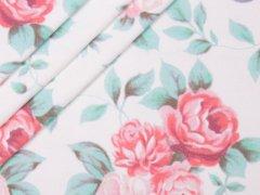 Jersey Single - Rosen - rosa - Hilco - natur