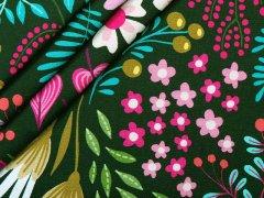 Jersey Single - Albstoffe - Bliss - flower field - grün