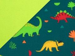 Softshell - Dinos - dunkeltürkis