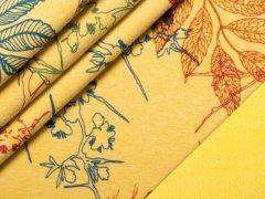 Alpenfleece - Blumen - gelb - meliert