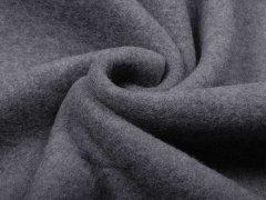Reststück 0,30m - Merino Fleece - Bobby - asphalt - melange