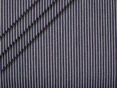 Jeans - Streifen - navy - weiß