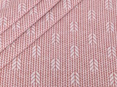BIO Jacquard - Plain Stitches  - Up Knit - Hamburger Liebe - Albstoffe - natur
