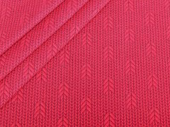 BIO Jacquard - Plain Stitches  - Up Knit - Hamburger Liebe - Albstoffe - rot