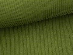 Bündchen Hipster Grobstrick - uni - oliv grün