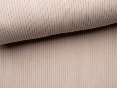 Reststück 0,40m - Bündchen Hipster Grobstrick - uni - beige