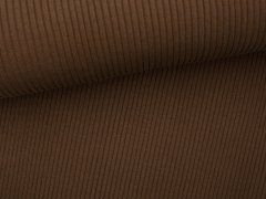 Bündchen Hipster Grobstrick - uni - braun