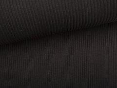 Bündchen Hipster Grobstrick - uni - schwarz