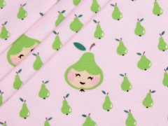 BIO Jersey Single - Little Pears - EXKLUSIV DESIGN - rosa