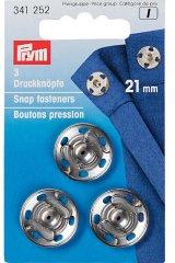Druckknöpfe - 21 mm - Prym - viele Farben silber