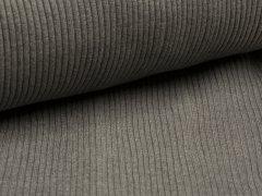 Bündchen Hipster Grobstrick - uni - grau meliert