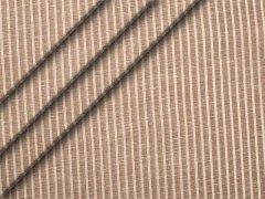 Reststück 0,35m - Leinen - glatt - Streifen - braun