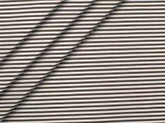 Popeline - Streifen - schwarz - weiß