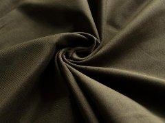 Feincord - Stretch - einfarbig - olivgrün