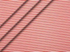 Popeline - Streifen - rot - weiß