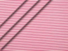 Popeline - Streifen - pink - weiß