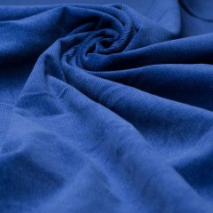 Feincord - Stretch - einfarbig - royalblau