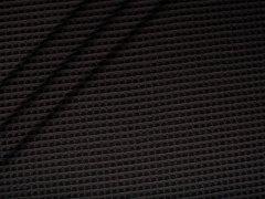 Baumwoll Waffelpiqué - schwarz
