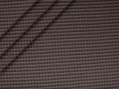 Reststück 0,95m - Baumwoll Waffelpiqué - anthrazit