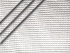 Reststück 0,40m - Baumwoll Waffelpiqué - weiß