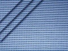 Baumwoll Waffelpiqué - blau