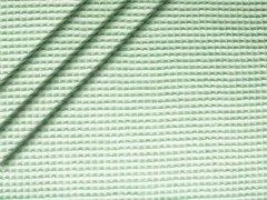 Reststück 0,70m Baumwoll Waffelpiqué - mint