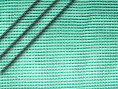 Reststück 1,10m - Baumwoll Waffelpiqué - seegrün hell