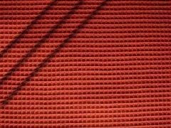 Baumwoll Waffelpiqué - rost