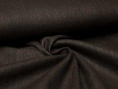 Reststück 0,80m - Leinen - glatt - schwarz