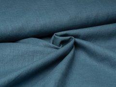 Reststück 0,35m - Leinen - glatt - blau