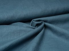 Leinen - glatt - blau