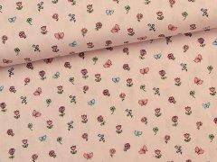 Baumwolle - Schmetterlinge - Blumen