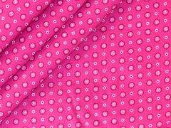Baumwolle - Minimuster - Blumen - pink - weiß